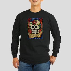 Amor Day of the Dead Skull Long Sleeve T-Shirt