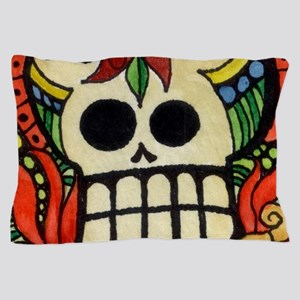 Amor Day of the Dead Skull Pillow Case