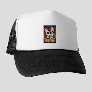 Amor Day of the Dead Skull Trucker Hat
