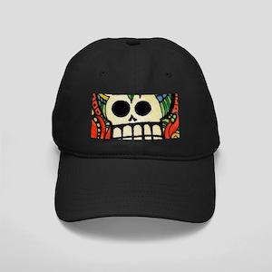 Amor Day of the Dead Skull Black Cap
