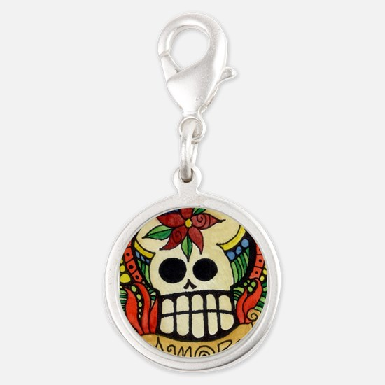 Amor Day of the Dead Skull Charms