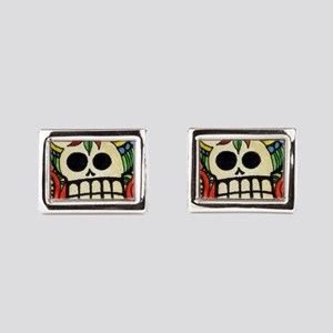 Amor Day of the Dead Skull Rectangular Cufflinks