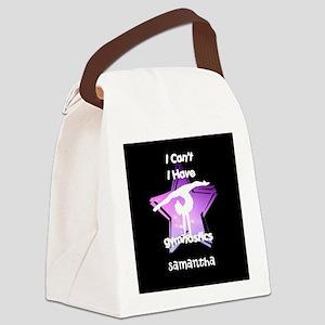 Gymnastics girl Canvas Lunch Bag