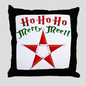 Ho Ho Ho Merry Meet! Throw Pillow