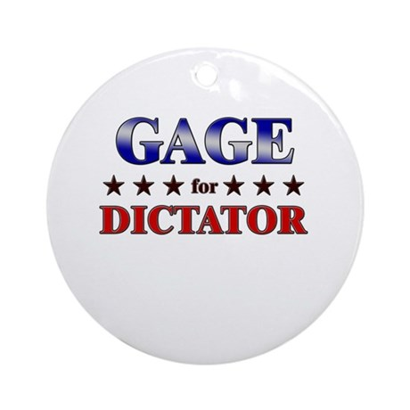 GAGE for dictator Ornament (Round)