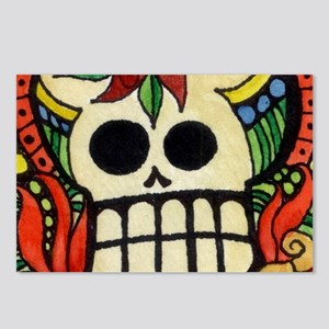 Amor Day of the Dead Skul Postcards (Package of 8)