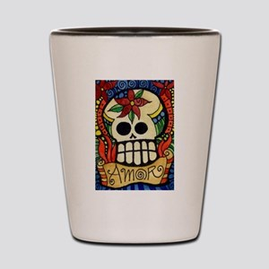 Amor Day of the Dead Skull Shot Glass