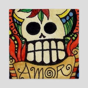 Amor Day of the Dead Skull Queen Duvet