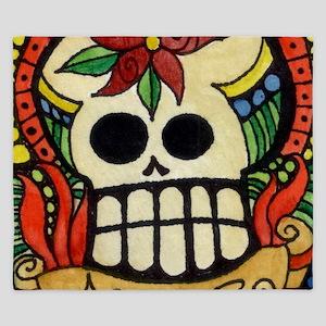 Amor Day of the Dead Skull King Duvet