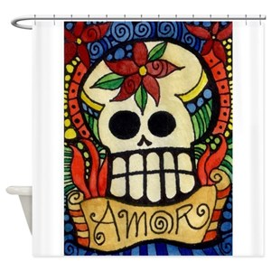Day Dead Shower Curtains
