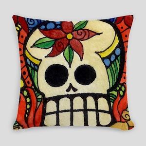 Amor Day of the Dead Skull Everyday Pillow