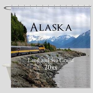 Alaska Land Sea Cruise Vacation Sou Shower Curtain