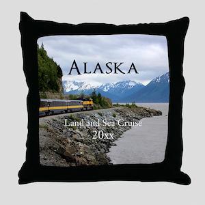 Alaska Land Sea Cruise Vacation Souve Throw Pillow