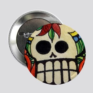 "Amor Day of the Dead Skull 2.25"" Button"