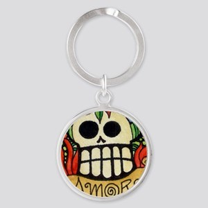 Amor Day of the Dead Skull Keychains