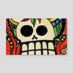 Amor Day of the Dead Skull Rectangle Car Magnet
