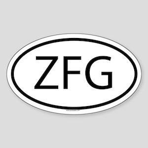 ZFG Oval Sticker
