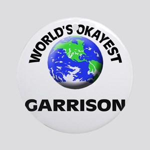 World's Okayest Garrison Round Ornament