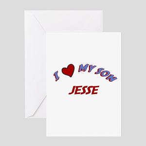 I Love My Son Jesse Greeting Card