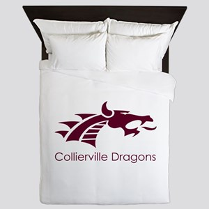 Collierville HS Maroon Dragon Queen Duvet