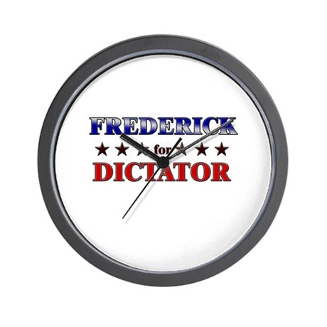 FREDERICK for dictator Wall Clock