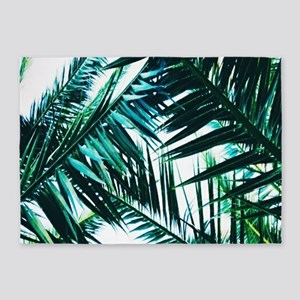 Palm Trees 2 5'x7'Area Rug