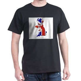 great britain map with flag T-Shirt