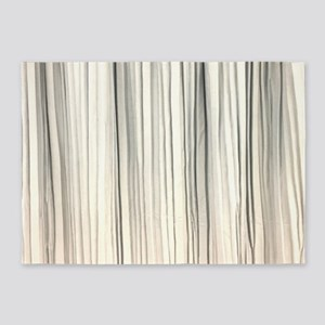 abstract champagne gold striped 5'x7'Area Rug