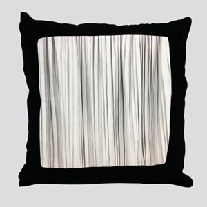 abstract champagne gold striped Throw Pillow