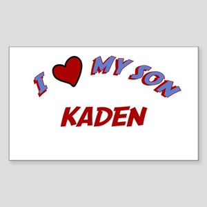 I Love My Son Kaden Rectangle Sticker