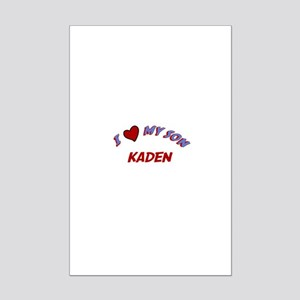 I Love My Son Kaden Mini Poster Print