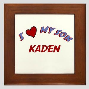 I Love My Son Kaden Framed Tile
