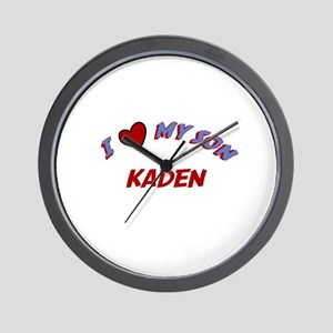 I Love My Son Kaden Wall Clock