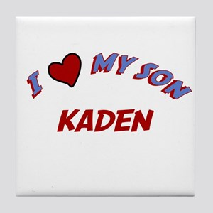 I Love My Son Kaden Tile Coaster
