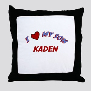 I Love My Son Kaden Throw Pillow