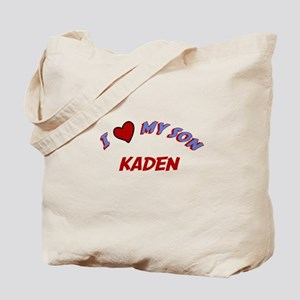 I Love My Son Kaden Tote Bag