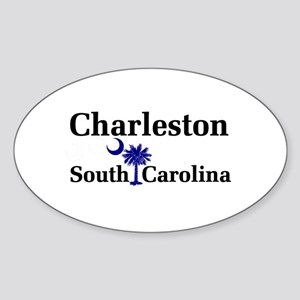 Charleston South Carolina Oval Sticker