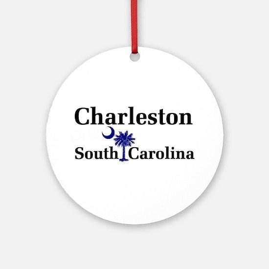 Charleston South Carolina Ornament (Round)