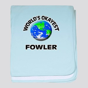World's Okayest Fowler baby blanket