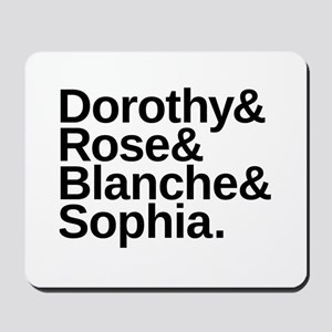 Golden Girls Name List Mousepad