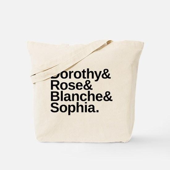 Golden Girls Name List Tote Bag