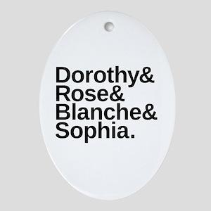 Golden Girls Name List Oval Ornament