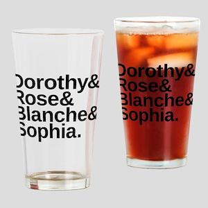 Golden Girls Name List Drinking Glass