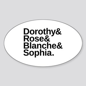 Golden Girls Name List Oval Sticker