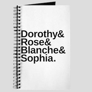 Golden Girls Name List Journal