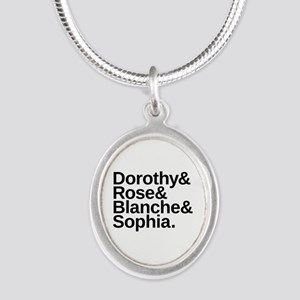 Golden Girls Name List Silver Oval Necklace