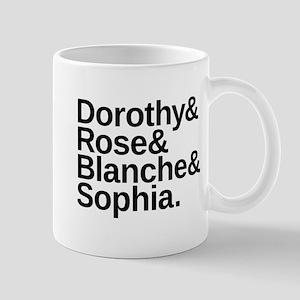 Golden Girls Name List Mug