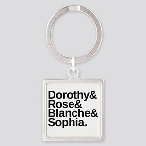 Golden Girls Name List Square Keychain