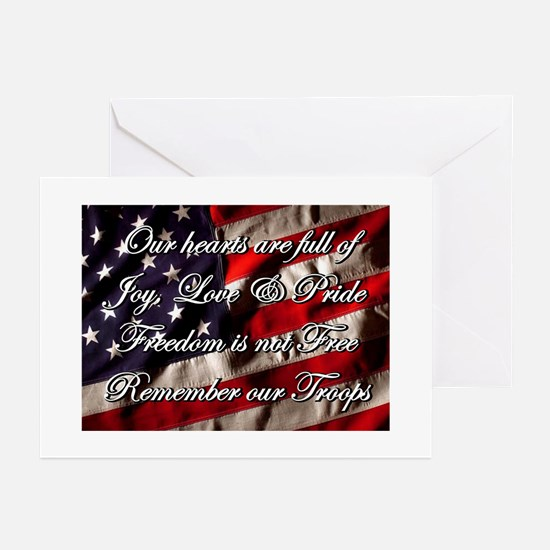 Remember the Troops Freedom Greeting Cards (6) Gre