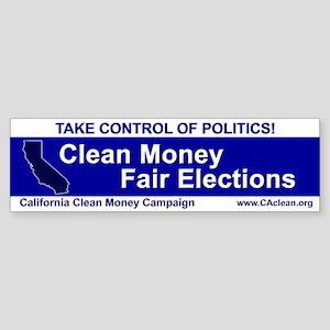 """""""Take Control of Politics"""" Bumper Sticker"""